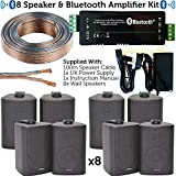 bar e ristorante altoparlante bluetooth kit – 8 x 60 W da parete per altoparlanti satellite/Corner & amp amplificatore – wireless background Music – pub, club, negozio, bar, ufficio – CableFinder