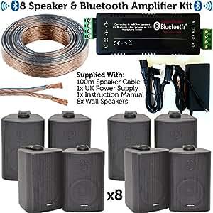 Loops Bluetooth-Lautsprecher-Set, 8 x 60 W: Amazon.de