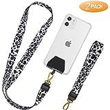 takyu Handykette, Universal Schlüsselband Halsband & Schlaufe zum Umhängen Kompatibel mit iPhone/Samsung/Huawei/Xiaomi (Leopard weiß)