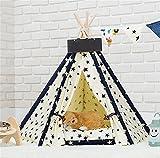 AnGe Chenils pour animaux amovibles et lavables Teepee Pet Play Tent Lit pour chat / chien