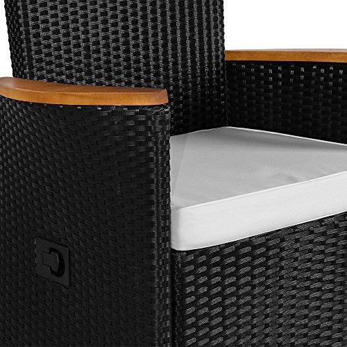 PolyRattan Sitzgruppe 8+1 neigbaren Rückenlehnen Tisch aus Akazienholz Gartenmöbel Gartenset Sitzgarnitur Rattan - 5