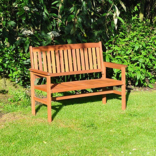 Kingfisher 2-Seater Hardwood Garden Patio Bench