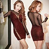 Whole House Humidifiers Best Deals - Spritech (TM) de la mujer sexy malla Bodycon transparente base camiseta discoteca Clubwear Vestido