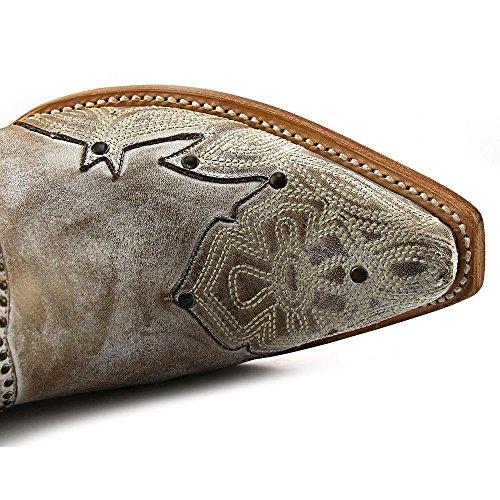 Lucchese  M4976, Bottes et bottines cowboy femme Beige