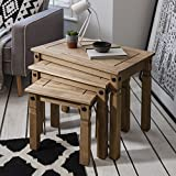 Nesting Tables   3 Tables   Rustic Design   Corona Mexican Pine by House of Cotswolds