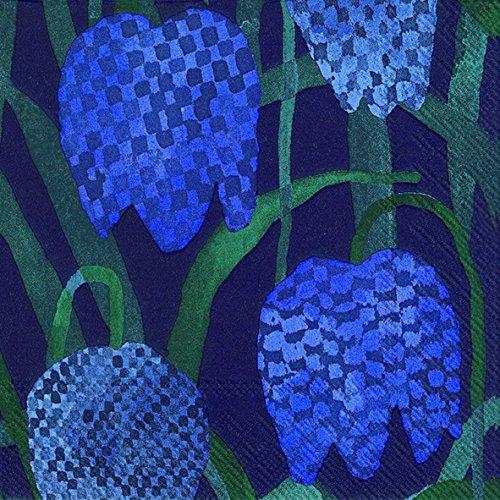 gerda-blue-fritillary-dark-blue-floral-marimekko-luncheon-paper-table-napkins-20-in-a-pack-33cm-squa