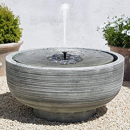 TekHome 2019 NEW Solar Water Fountain, Bird Bath Fountain, Solar Water Features for The Garden, Floating Solar Fountain, Solar Panel Water Pump for Pond/Pool, Solar Powered Water Feature.