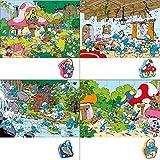Barbo Toys 4er Set Puzzle - DIE SCHLÜMPFE - Für Kinder ab 3 Jahren