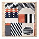 JUANLIGHT Sala De Estar Mesa De Café Alfombra Color Geométrico Alfombra Simple Pasillo Alfombra De Piso Completo Textiles para El Hogar,80 * 126cm