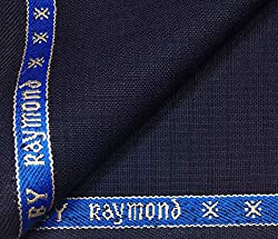 Raymond Fine Wool Blended Fabric For Round The Year Wear Blue Unstitched Trouser Fabric
