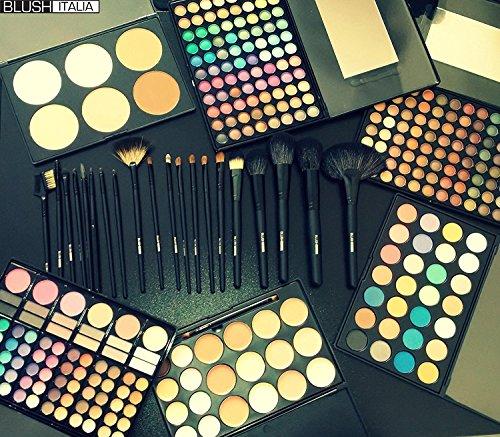 Italie ombre blush yeux palette fard à paupières maquillage kit de brosse de maquillage