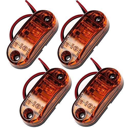 4PCS LED Vorderseite Marker Lights Prozor 12V 24V LKW Van Anhänger Kontrollleuchte für Auto LKW Van Anhänger Indikator