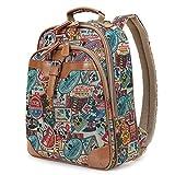 ililily klassischer Stil mehrfach Muster Mickey Maus Muster Tagespackung Rucksack Rucksack Tasche