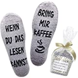 Belloxis Lustige Socken Damen Wenn Du Das Lesen Kannst Socken Geschenke für Frauen, Winter Flauschige Socken mit…