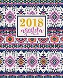 Agenda: 2018 Agenda settimanale italiano : 19x23cm : Fantasia azteca bellissimo rosa: Volume 8