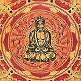 Tagesdecke Lotus Buddha 235 x 200 cm Überwurf indische Decke
