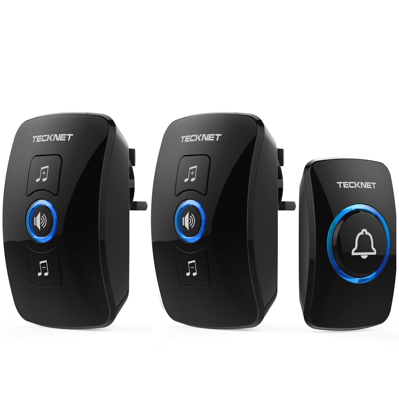 Tecknet Wireless Doorbell Twin Waterproof Wall Plug In