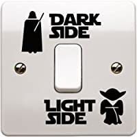 Epic Modz Star Wars Light Side Dark Side Light Switch Vinyl Decal Sticker, Black