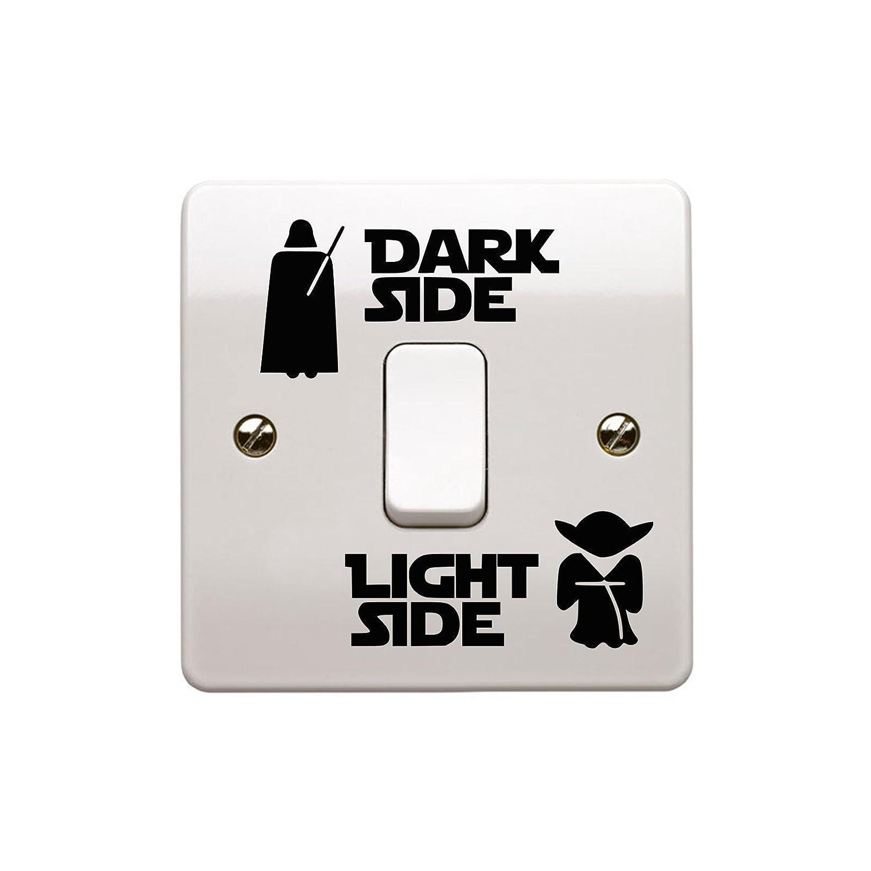 epic modz star wars light side dark side light switch vinyl decal epic modz star wars light side dark side light switch vinyl decal sticker black amazon co uk diy tools