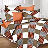 Home Elite Dynamic Print 104 TC Cotton Double Bedsheet with 2 Pillow Covers - Multicolour