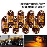 MASO laterali luci LED indicatore laterale luci di posizione laterali lampade 12V 24V universale per rimorchio Van caravan camion auto Bus