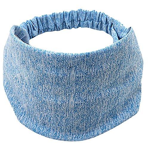 Beonzale Frauen Baumwolle Geknotete Turban Head Warp Haarband Breites elastisches Stirnband Sport Yoga Sport Fitness