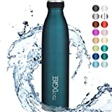 """720°DGREE Edelstahl Trinkflasche """"milkyBottle"""" - 750ml, 1L - BPA-Frei, Auslaufsicher, Kohlensäure geeignet - Thermosflasche für Sprudel, Sport, Uni, Schule, Fitness, Outdoor, Camping"""