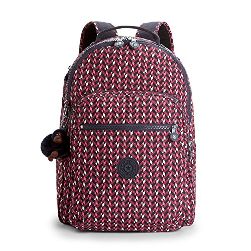 Kipling CLAS Seoul Mochila Escolar, 45 cm, 25 Liters, (Pink Chevron)