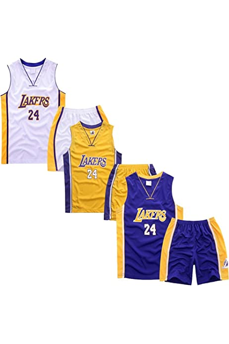3 Pack -Children and Adult Jersey - NBA Los Angeles Lakers #24 ...