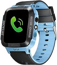 Kinder Smart Armbanduhr, Touchscreen mit 90 Grad drehbare Kamera, Video, Aufnahme, Touch Screen GPS-Verfolger Anti-Verlust Bluetooth Smartwatch mit Kamera mit Sim-Karte für IOS-Android-Telefon