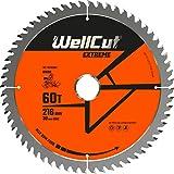 WELLCUT WC-M2163060 TCT sågblad 216 mm x 60T x 30 mm borr