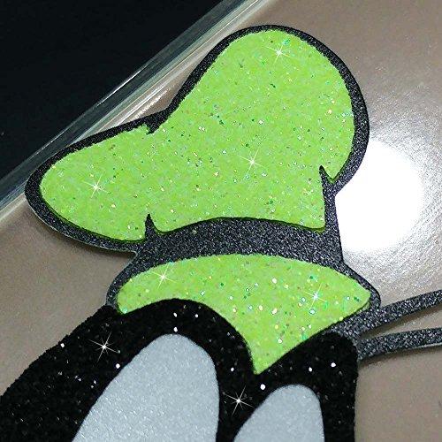 IP7 TPU Softcae Weiß Protective Schutzhülle Handycover Etui Bumper Staubdicht Telefon-Kasten Case Shell Abdeckung Bumper Back Cover Fashion glitter Disney Minnie Mouse Fluo Fluoreszierend, iPhone 7 Goofy