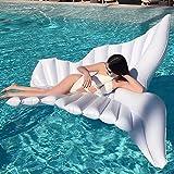 iBaste Riesiger aufblasbarer Engels Flügel Pool Wasser Luftmatratze schwimmen schwimmtier Floß Aufblasbar Schwebebett Wasserspielzeug Sommer schwimminsel Strand Party Spielzeug Kinder Erwachsene