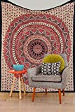 Indian Mandala Tapestry, Wall Hanging, H...