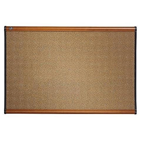 Quartet Prestige Colored Cork Bulletin Board, 3 x 2 Feet, Light Cherry Finish Frame, One Board per Order (B243LC) by Quartet