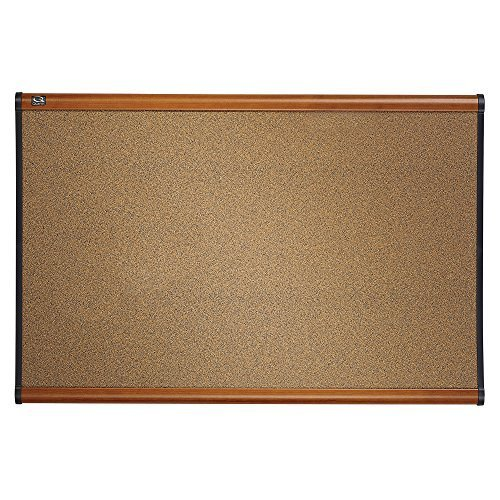 Quartet Prestige Colored Cork Bulletin Board, 3 x 2 Feet, Light Cherry Finish Frame, One Board per Order (B243LC) by Quartet -