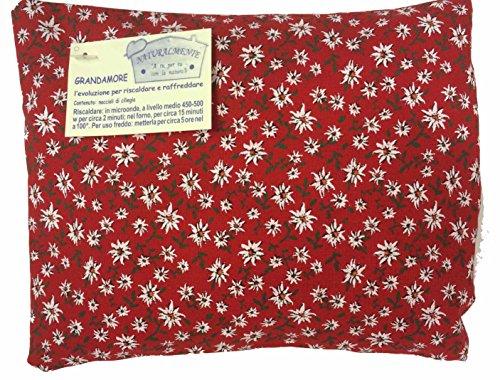 Cuscino 20x32 cm noccioli di ciliegia - incluso inserto rilassante in cirmolo e lavanda - realizzato a mano in trentino alto adige