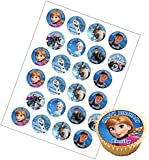 24 x Personalised Frozen Birthday Cup Cake Toppers with Any Name *ON RICE PAPER*
