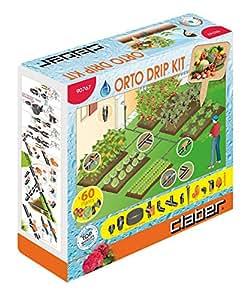 CLABER 90767 ORTO DRIP KITIRRIGAZIONE A GOCCIA PER ORTO PER 60 PIANTE FINO 6ZONE