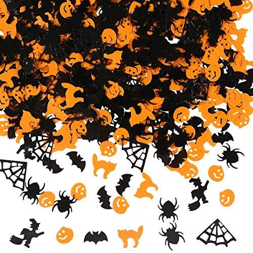 Amosfun Papier Konfetti Kürbis Tisch werfen Konfetti Hexe Fledermaus Spinnennetz Spinne für Halloween Party 1 Pack 60g