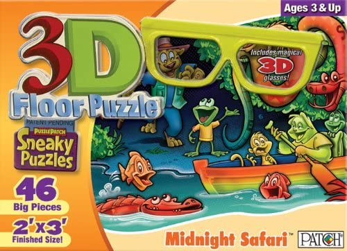 3D Sneaky Puzzles - Midnight Safari by Patch Products | Pas Cher