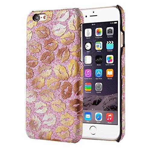 Phone case & Hülle Für iPhone 6 / 6s, Sexy Lippe Druck Muster Hard Back Cover Schutzmaßnahmen zurück Fall ( Color : White ) Pink