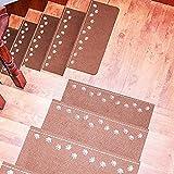 Stufenmatte Treppenstufe Teppiche rutschfest Stufenmatten Mats Runner Dämpfer 6pcs, Stufenmatte Pads Paw Muster Luminous Teppich