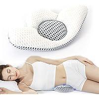 NIUPSKY Cuscino Lombare per Dormire, Altezza Regolabile 3D Supporto Lombare Cuscino in Vita sciatico Sollievo dal Dolore…