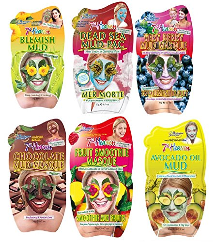 montagne-jeunesse-7th-heaven-pack-de-6-masques-visage-boue