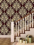#8: Brick Wallpapers for Wall | Best for Living Room and Home Décor | Size: (Large Roll / 45 SqFt) | High Quality Stone Brick Wall Effect Pre Gummed Wallpaper (Self Adhesive) by Paper Plane Design (PPD)