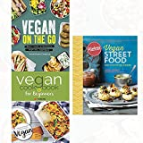 vegan street food,vegan on the go and vegan cookbook for beginners [paperback]3 books collection set -keep it delicious & simple calorie counted with new vegan diet essential