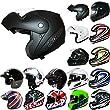 * BIG CLEARANCE * Leopard DVS Flip up Black/Yellow Motorbike Motorcycle Crash Helmet S (55-56cm)