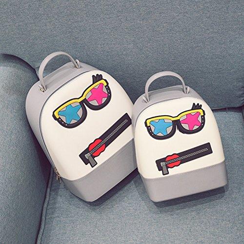 Weibliche Paket Silikon Schlag Farbe Gläser Fünf - Sterne Schulter Beutel College Studenten Wind Studenten Reise Taschen hellgrau