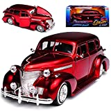 alles-meine GmbH Chevrolet Chevy Master Deluxe Rot 1939 Lowrider 1/24 Jada Modell Auto